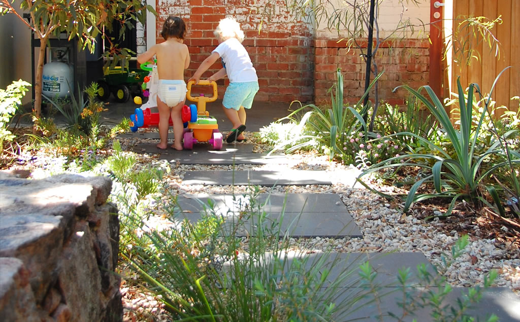 Backyard landscaping for kids
