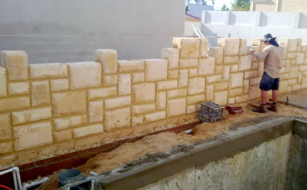 Limestone Retaining Wall In South Fremantle